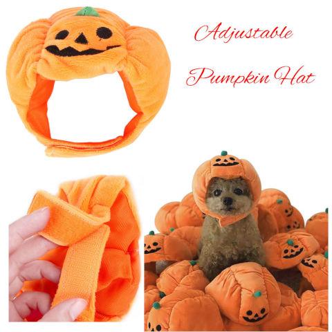 Halloween Pumpkin Hat Dog Cats