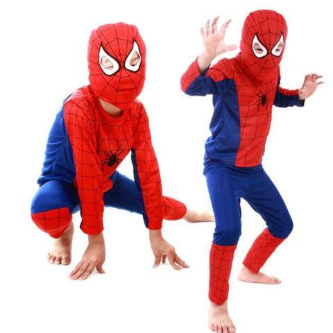 Kids Spiderman Costume Halloween Cosplay